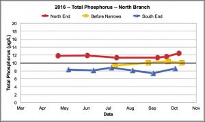 Total Phosphorus North Branch 2016